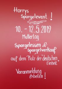 Harrys Spargelevent!